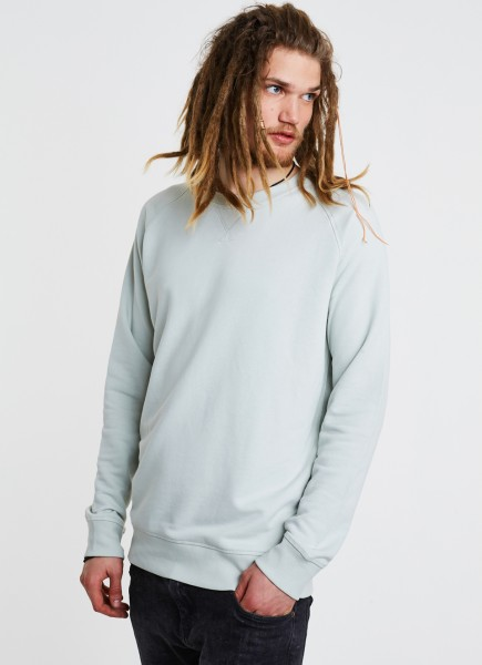 Basic Raglan-Sweatshirt in mintgrün