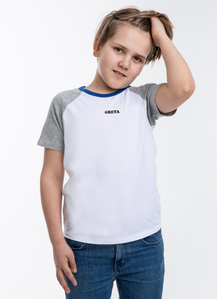 Kids Greta T-Shirt - BLUE