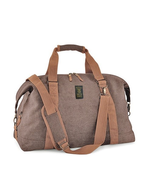 Vintage Canvas Weekender BROWN
