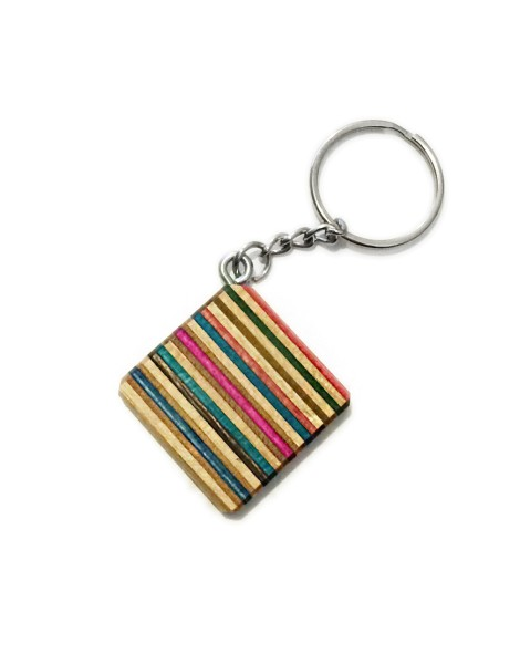 Recycled Skateboard Key Ring
