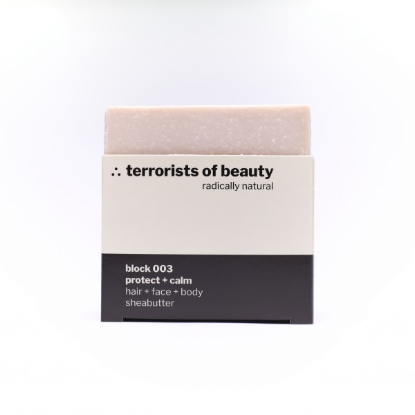 terrorists of beauty | blockseife 003 protect + calm